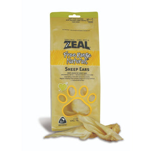Zeal Free Range Naturals Sheep Ears Air-Dried Dog Treats, 125g - Happy Hoomans
