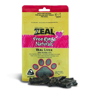 Zeal Free Range Naturals Veal Liver Air-Dried Dog Treats, 125g - Happy Hoomans