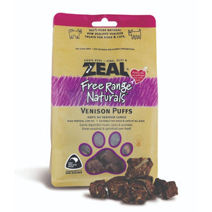 Zeal Free-Range Naturals Venison Puffs Air-Dried Pet Treats, 85g - Happy Hoomans