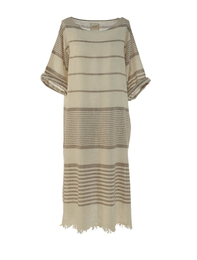 Begonville Maxi Dress Clara Linen Maxi Dress Beige