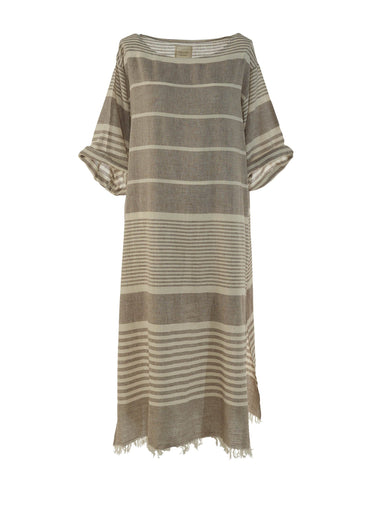 Begonville Maxi Dress Dylan Linen Maxi Dress Beige