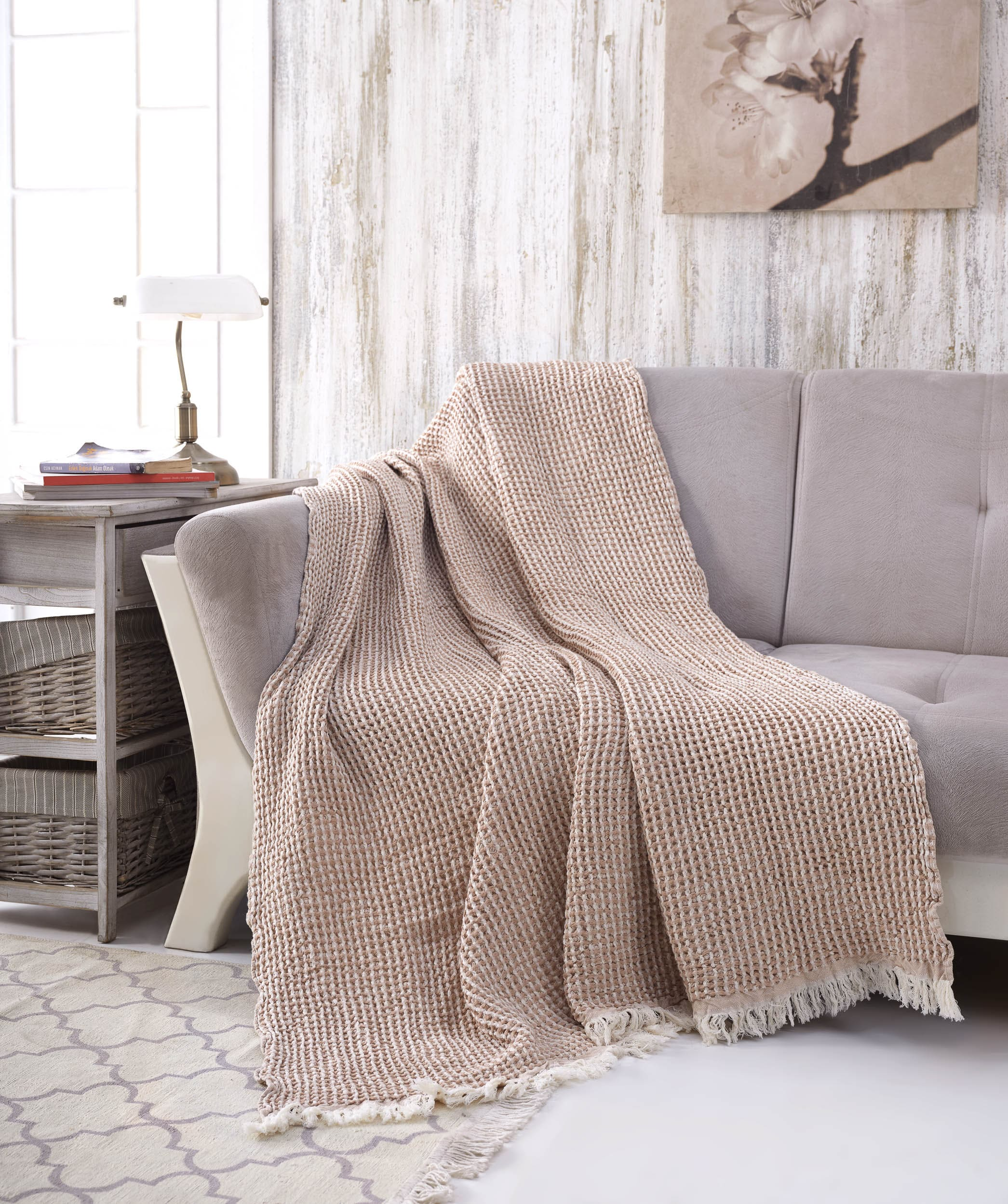 Waffle Cotton Throw