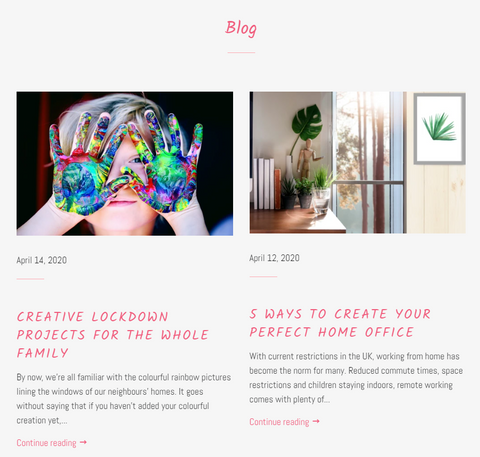 Blogs written for Too Printy and laid out on Shopify