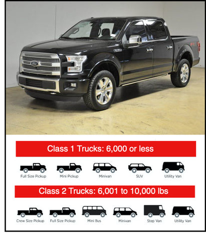 pickup trucks and similar sized trucks and vans