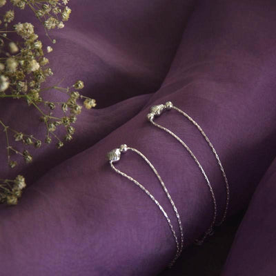 92.5 Silver Dome Anklet Anklets - By Unniyarcha - Original Manufacturers of Silver Jewelry, Gold Plated Jewellery, Fashion Jewellery and Personalized Soul Bands and Personalized Jewelry