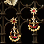 92.5 Silver Jadau Earrings - By Unniyarcha - Original Manufacturers of Silver Jewelry, Gold Plated Jewellery, Fashion Jewellery and Personalized Soul Bands and Personalized Jewelry