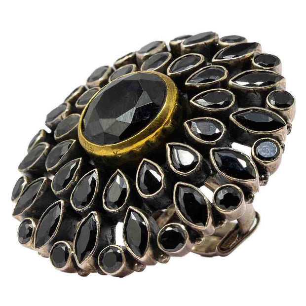 Black Spinel Stone Ring - By Unniyarcha - Original Manufacturers of Silver Jewelry, Gold Plated Jewellery, Fashion Jewellery and Personalized Soul Bands and Personalized Jewelry