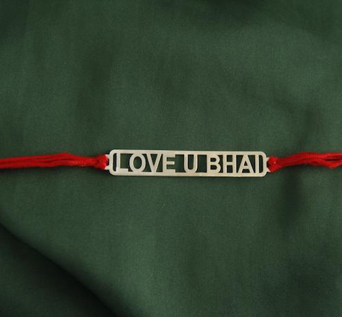 Brother Love Silver Rakhi - By Unniyarcha - Original Manufacturers of Silver Jewelry, Gold Plated Jewellery, Fashion Jewellery and Personalized Soul Bands and Personalized Jewelry