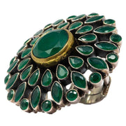 Green Spinel Stone Ring - By Unniyarcha - Original Manufacturers of Silver Jewelry, Gold Plated Jewellery, Fashion Jewellery and Personalized Soul Bands and Personalized Jewelry