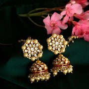 Jadau Statement Silver Jhumka Earrings - By Unniyarcha - Original Manufacturers of Silver Jewelry, Gold Plated Jewellery, Fashion Jewellery and Personalized Soul Bands and Personalized Jewelry