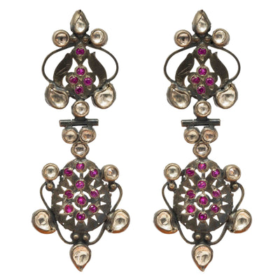 Jahanara Silver Earring - By Unniyarcha - Original Manufacturers of Silver Jewelry, Gold Plated Jewellery, Fashion Jewellery and Personalized Soul Bands and Personalized Jewelry