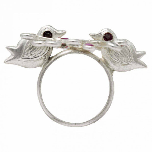 Love Birds Ring - By Unniyarcha - Original Manufacturers of Silver Jewelry, Gold Plated Jewellery, Fashion Jewellery and Personalized Soul Bands and Personalized Jewelry