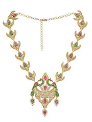 Peacock Kundan Jadau Silver 92.5 Necklace. - By Unniyarcha - Original Manufacturers of Silver Jewelry, Gold Plated Jewellery, Fashion Jewellery and Personalized Soul Bands and Personalized Jewelry