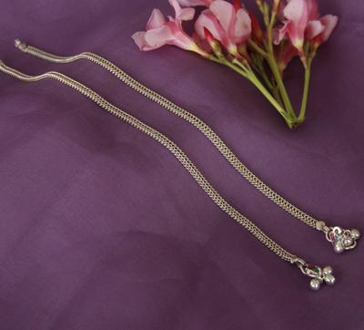 Plain Chain Anklet - By Unniyarcha - Original Manufacturers of Silver Jewelry, Gold Plated Jewellery, Fashion Jewellery and Personalized Soul Bands and Personalized Jewelry