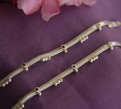 Plain Chain Anklet for Kids - By Unniyarcha - Original Manufacturers of Silver Jewelry, Gold Plated Jewellery, Fashion Jewellery and Personalized Soul Bands and Personalized Jewelry