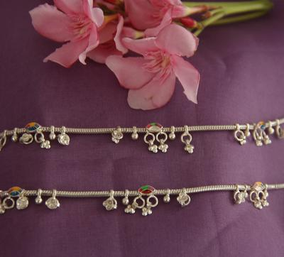Plain Silver 92.5 Anklets - By Unniyarcha - Original Manufacturers of Silver Jewelry, Gold Plated Jewellery, Fashion Jewellery and Personalized Soul Bands and Personalized Jewelry