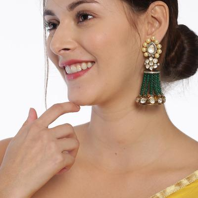 Polki Jadau Silver Jhumka Earrings - By Unniyarcha - Original Manufacturers of Silver Jewelry, Gold Plated Jewellery, Fashion Jewellery and Personalized Soul Bands and Personalized Jewelry