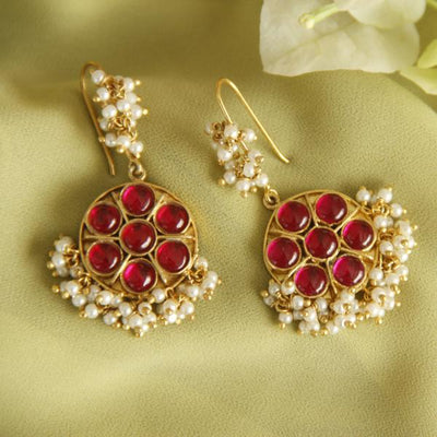 Red Pots Dangling Earrings - By Unniyarcha - Original Manufacturers of Silver Jewelry, Gold Plated Jewellery, Fashion Jewellery and Personalized Soul Bands and Personalized Jewelry