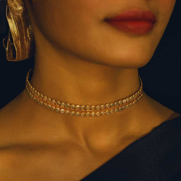 Secret Garden Silver Gold Plated Choker - By Unniyarcha - Original Manufacturers of Silver Jewelry, Gold Plated Jewellery, Fashion Jewellery and Personalized Soul Bands and Personalized Jewelry