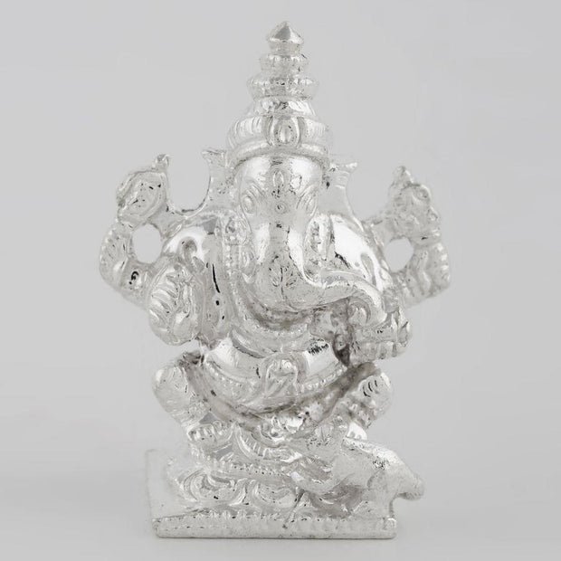 Siler Solid Ganesha Idol Silver Article - By Unniyarcha - Original Manufacturers of Silver Jewelry, Gold Plated Jewellery, Fashion Jewellery and Personalized Soul Bands and Personalized Jewelry