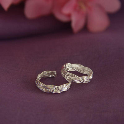 Silve rope toe ring ( PAIR) Toe Rings - By Unniyarcha - Original Manufacturers of Silver Jewelry, Gold Plated Jewellery, Fashion Jewellery and Personalized Soul Bands and Personalized Jewelry