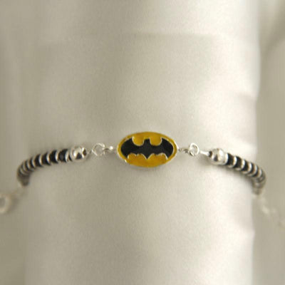 Silver Batman Nazariya Baby jewelry - By Unniyarcha - Original Manufacturers of Silver Jewelry, Gold Plated Jewellery, Fashion Jewellery and Personalized Soul Bands and Personalized Jewelry