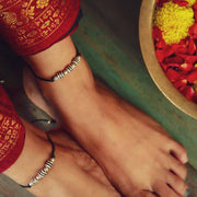 Silver Bead Thread Anklet Anklets - By Unniyarcha - Original Manufacturers of Silver Jewelry, Gold Plated Jewellery, Fashion Jewellery and Personalized Soul Bands and Personalized Jewelry