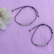 Silver BeadThread Anklet Anklets - By Unniyarcha - Original Manufacturers of Silver Jewelry, Gold Plated Jewellery, Fashion Jewellery and Personalized Soul Bands and Personalized Jewelry