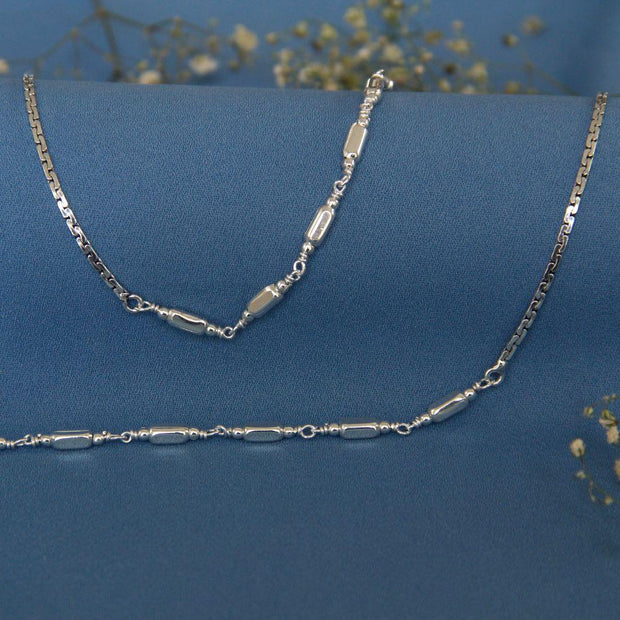 Silver Block Anklet Anklets - By Unniyarcha - Original Manufacturers of Silver Jewelry, Gold Plated Jewellery, Fashion Jewellery and Personalized Soul Bands and Personalized Jewelry