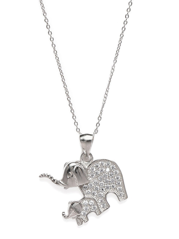 Silver Elephant Pendant - By Unniyarcha - Original Manufacturers of Silver Jewelry, Gold Plated Jewellery, Fashion Jewellery and Personalized Soul Bands and Personalized Jewelry