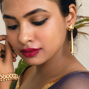 Silver Gold Plated Antique Tumble Earring - By Unniyarcha - Original Manufacturers of Silver Jewelry, Gold Plated Jewellery, Fashion Jewellery and Personalized Soul Bands and Personalized Jewelry