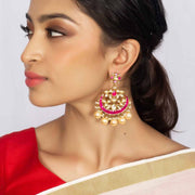 Silver Gold Plated Chand bali - By Unniyarcha - Original Manufacturers of Silver Jewelry, Gold Plated Jewellery, Fashion Jewellery and Personalized Soul Bands and Personalized Jewelry