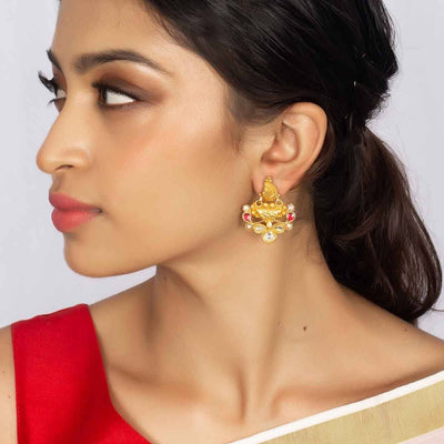 Silver Gold Plated Earring - By Unniyarcha - Original Manufacturers of Silver Jewelry, Gold Plated Jewellery, Fashion Jewellery and Personalized Soul Bands and Personalized Jewelry