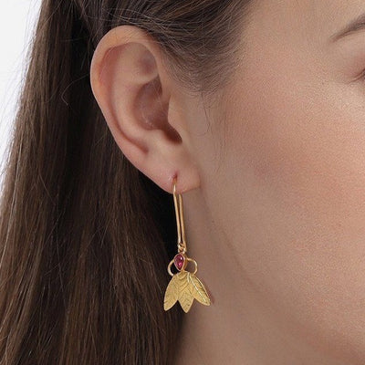 Silver Gold Plated Flower Earrings - By Unniyarcha - Original Manufacturers of Silver Jewelry, Gold Plated Jewellery, Fashion Jewellery and Personalized Soul Bands and Personalized Jewelry