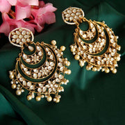 Silver Gold Plated Jadau Earring Earrings - By Unniyarcha - Original Manufacturers of Silver Jewelry, Gold Plated Jewellery, Fashion Jewellery and Personalized Soul Bands and Personalized Jewelry