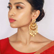 Silver Gold Plated Jadau Earring - By Unniyarcha - Original Manufacturers of Silver Jewelry, Gold Plated Jewellery, Fashion Jewellery and Personalized Soul Bands and Personalized Jewelry