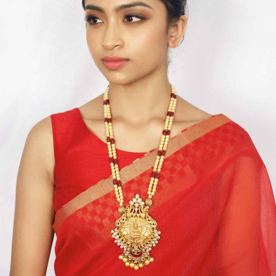 Silver Gold Plated Lakshmi Nakash Necklace - By Unniyarcha - Original Manufacturers of Silver Jewelry, Gold Plated Jewellery, Fashion Jewellery and Personalized Soul Bands and Personalized Jewelry