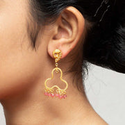 Silver Gold Plated Peacock Earring - By Unniyarcha - Original Manufacturers of Silver Jewelry, Gold Plated Jewellery, Fashion Jewellery and Personalized Soul Bands and Personalized Jewelry