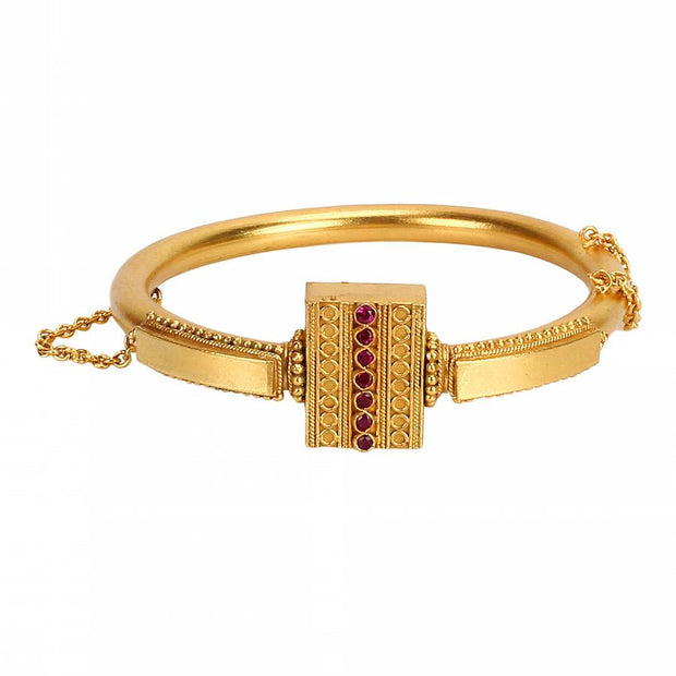 Silver gold temple bangle - Unniyarcha Jewellery