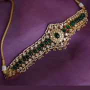 Silver Green Choker Necklaces - By Unniyarcha - Original Manufacturers of Silver Jewelry, Gold Plated Jewellery, Fashion Jewellery and Personalized Soul Bands and Personalized Jewelry