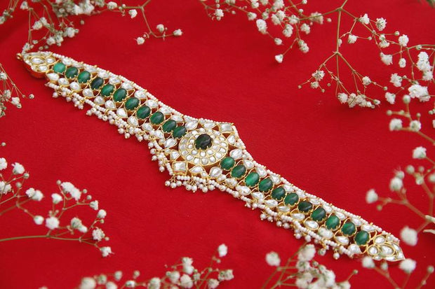 Silver Green Choker Necklaces CHOKER - By Unniyarcha - Original Manufacturers of Silver Jewelry, Gold Plated Jewellery, Fashion Jewellery and Personalized Soul Bands and Personalized Jewelry