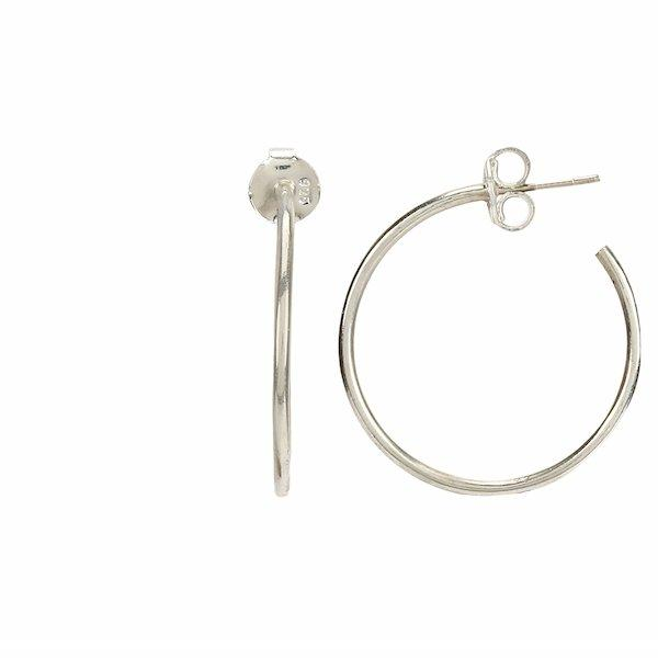 Silver hoop earrings - By Unniyarcha - Original Manufacturers of Silver Jewelry, Gold Plated Jewellery, Fashion Jewellery and Personalized Soul Bands and Personalized Jewelry