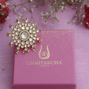 Silver Jadau Ring Rings - By Unniyarcha - Original Manufacturers of Silver Jewelry, Gold Plated Jewellery, Fashion Jewellery and Personalized Soul Bands and Personalized Jewelry