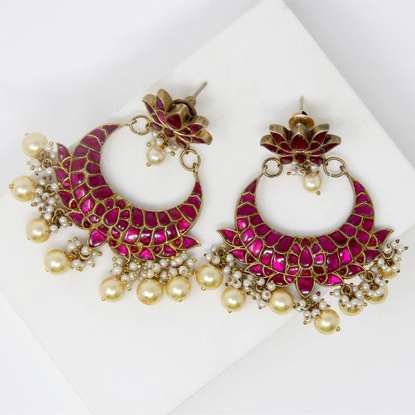 Silver Jahanara Mahal Earrings - By Unniyarcha - Original Manufacturers of Silver Jewelry, Gold Plated Jewellery, Fashion Jewellery and Personalized Soul Bands and Personalized Jewelry