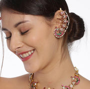 Silver Kundan Earcuff. - By Unniyarcha - Original Manufacturers of Silver Jewelry, Gold Plated Jewellery, Fashion Jewellery and Personalized Soul Bands and Personalized Jewelry