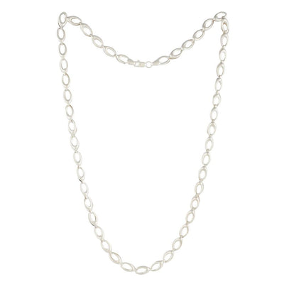 SILVER OVAL LINK CHAIN Chains - By Unniyarcha - Original Manufacturers of Silver Jewelry, Gold Plated Jewellery, Fashion Jewellery and Personalized Soul Bands and Personalized Jewelry