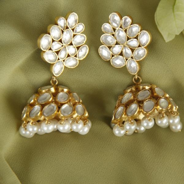 Silver Pearl Jhumka - By Unniyarcha - Original Manufacturers of Silver Jewelry, Gold Plated Jewellery, Fashion Jewellery and Personalized Soul Bands and Personalized Jewelry