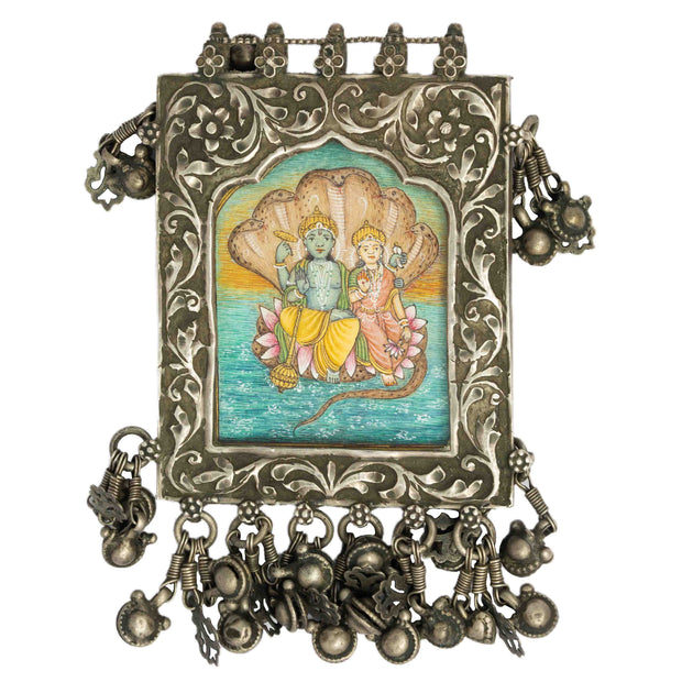 Silver Radha Krishna Pendent - By Unniyarcha - Original Manufacturers of Silver Jewelry, Gold Plated Jewellery, Fashion Jewellery and Personalized Soul Bands and Personalized Jewelry