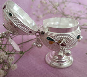 Silver sindoor box Silver Article - By Unniyarcha - Original Manufacturers of Silver Jewelry, Gold Plated Jewellery, Fashion Jewellery and Personalized Soul Bands and Personalized Jewelry