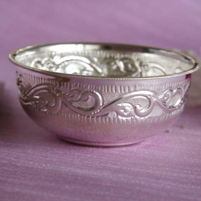 Silver small bowl Silver Article - By Unniyarcha - Original Manufacturers of Silver Jewelry, Gold Plated Jewellery, Fashion Jewellery and Personalized Soul Bands and Personalized Jewelry